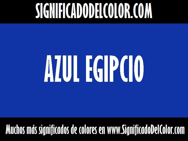 cual es el color Azul egipcio
