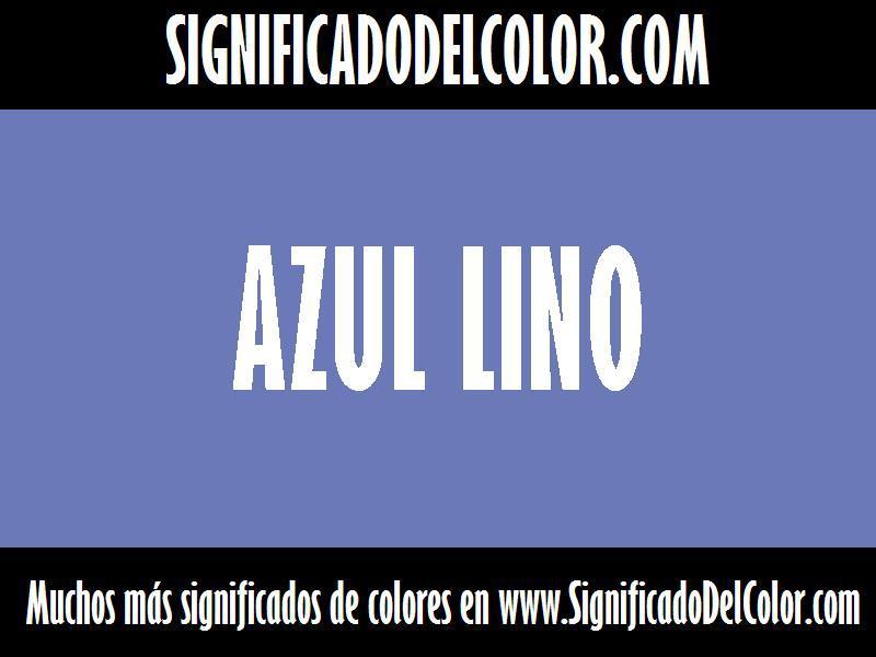 cual es el color Azul lino