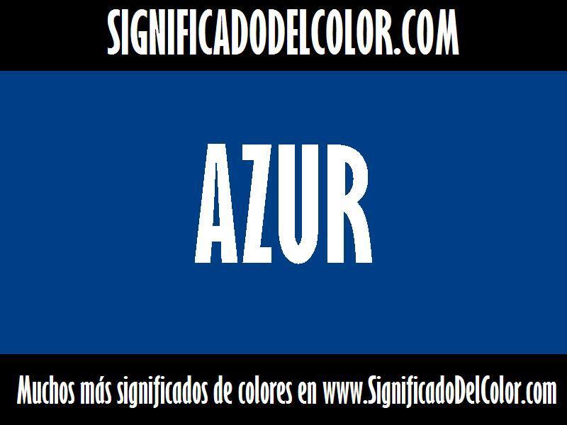¿Cual es el color Azur?