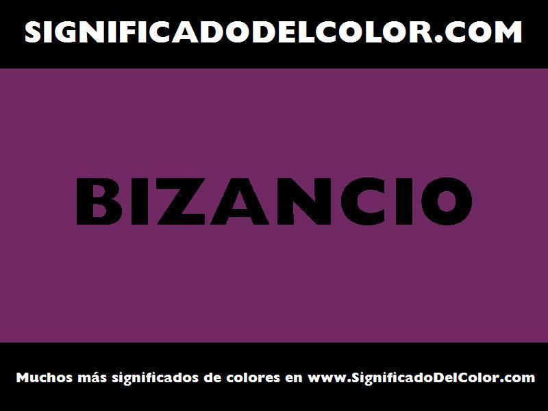 ¿Cual es el color Bizancio?
