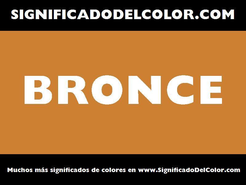 ¿Cual es el color Bronce?