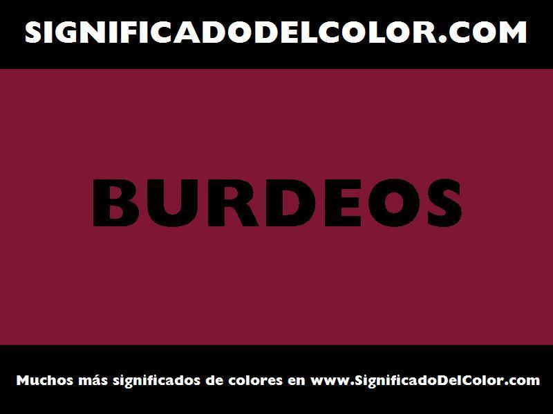 ¿Cual es el color Burdeos?
