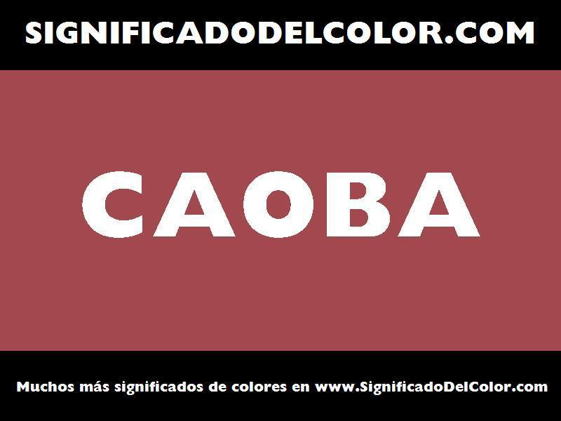 ¿Cual es el color Caoba?