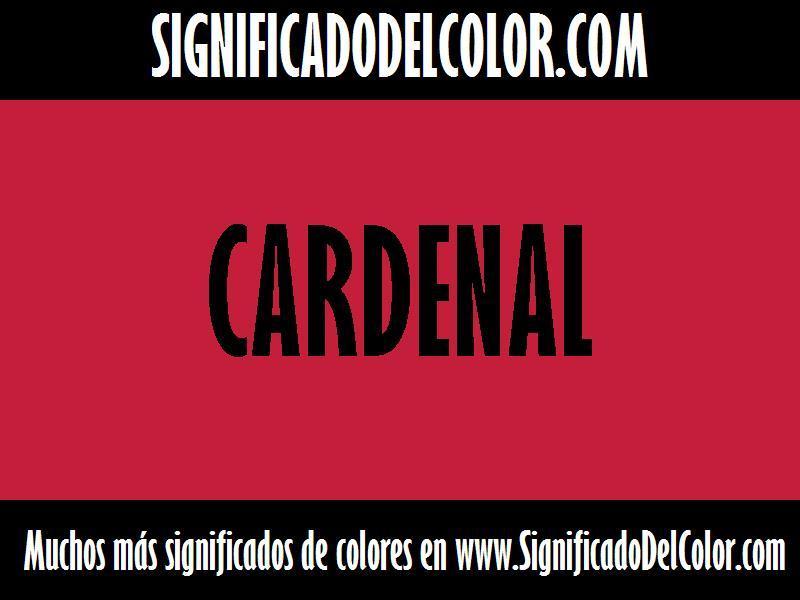 ¿Cual es el color Cardenal?