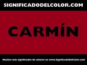 cual es el color carmin