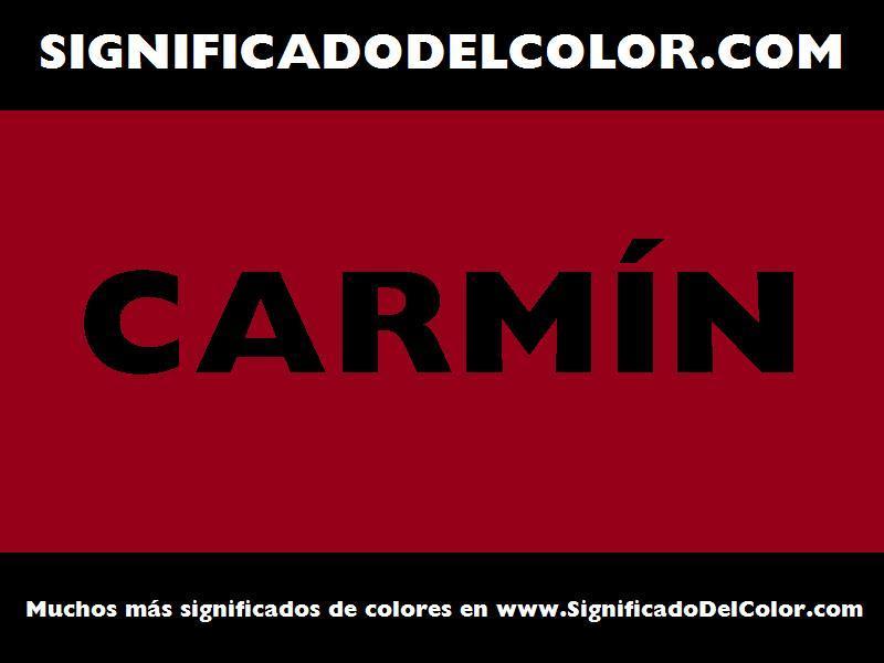 ¿Cual es el color Carmín?