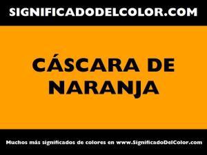 cual es el color cascara de naranja