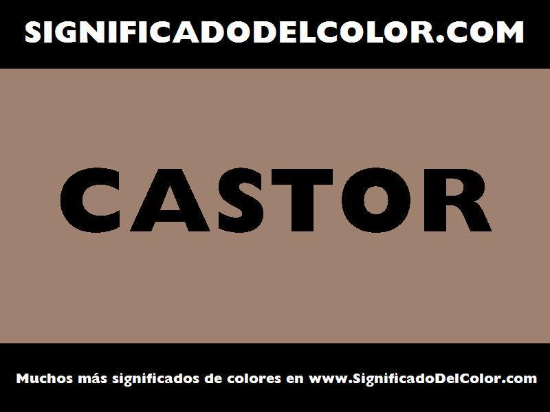¿Cual es el color Castor?