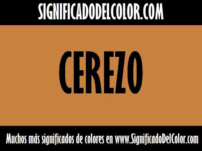 ¿Cual es el color Cerezo?