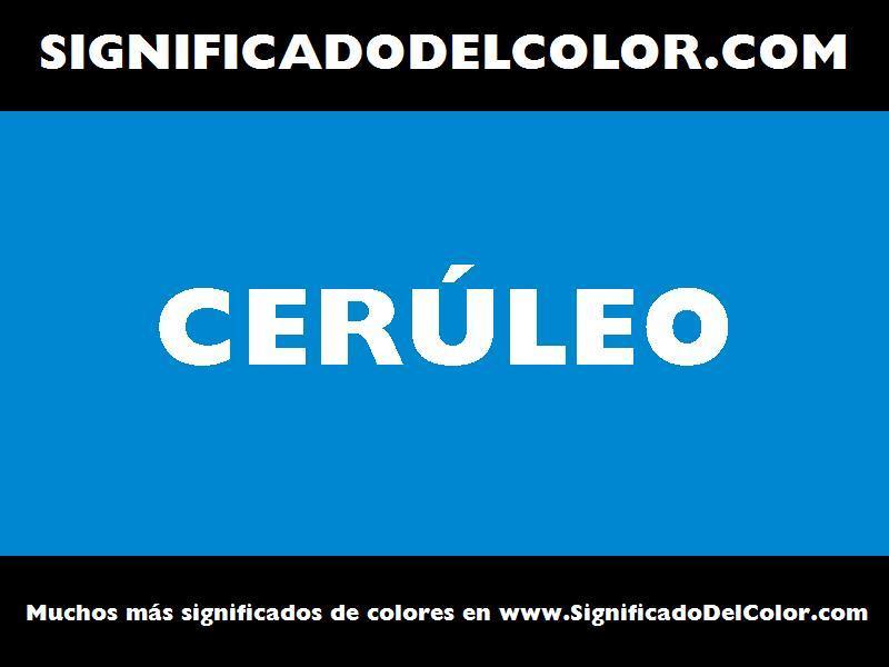 ¿Cual es el color Cerúleo?