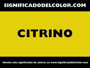 cual es el color citrino