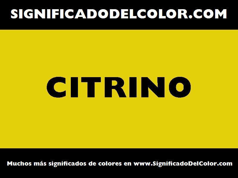¿Cual es el color Citrino?