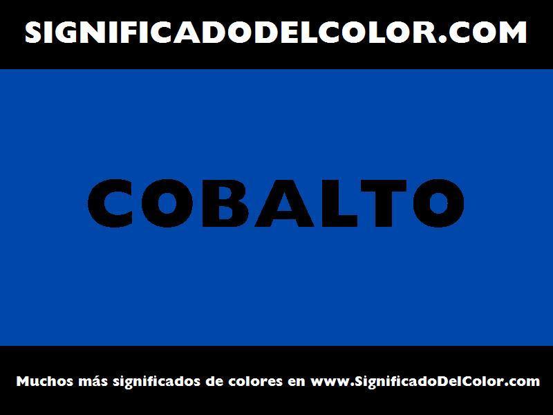 ¿Cual es el color Cobalto?