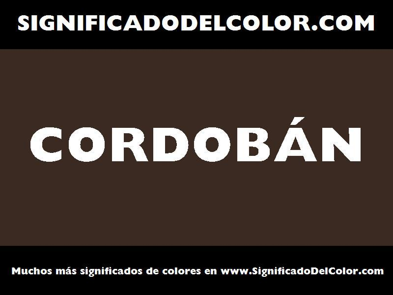 ¿Cual es el color Cordobán?