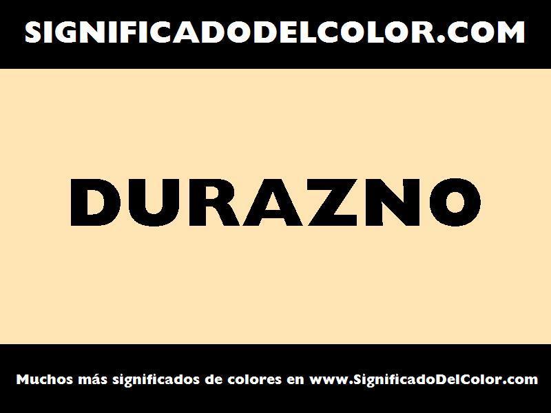 ¿Cual es el color Durazno?