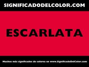 cual es el color escarlata