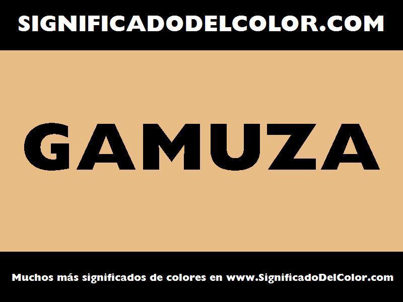 ¿Cual es el color Gamuza?