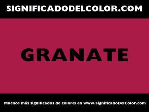 cual es el color granate