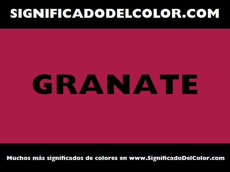 ¿Cual es el color Granate?