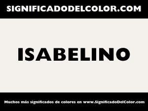 cual es el color isabelino