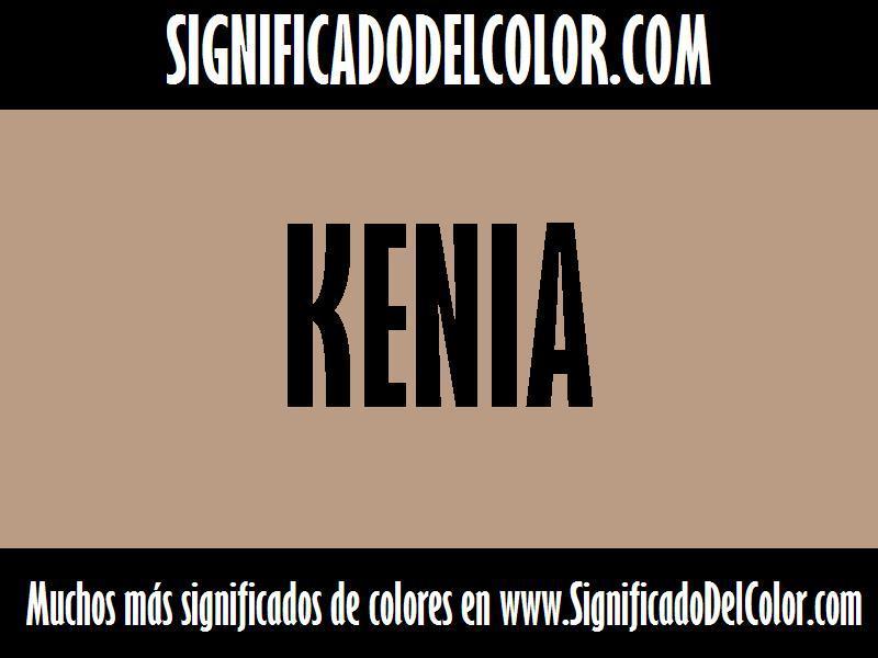 ¿Cual es el color Kenia?