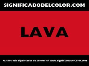 cual es el color lava