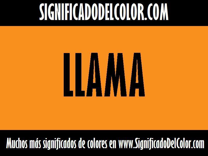 cual es el color Llama