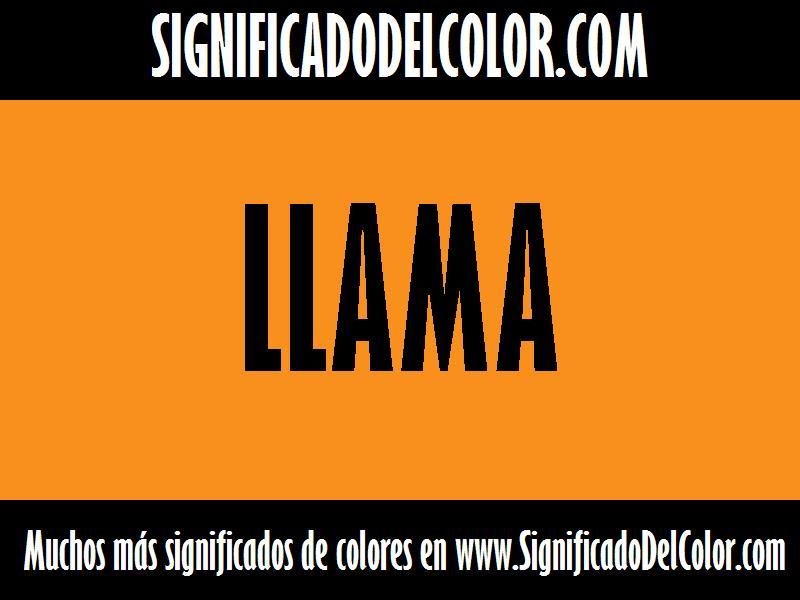 ¿Cual es el color Llama?