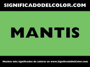 cual es el color mantis