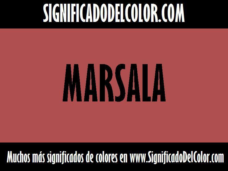 ¿Cual es el color Marsala?