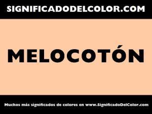 cual es el color melocoton