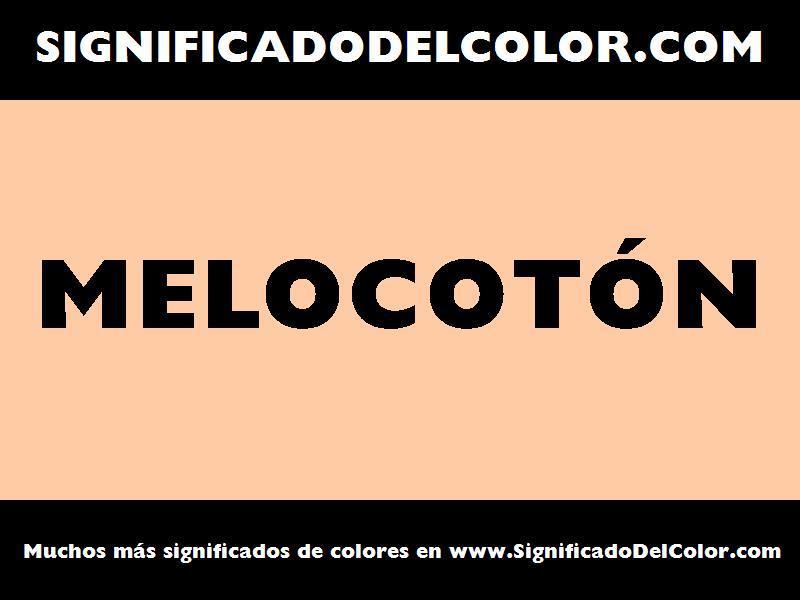 ¿Cual es el color Melocotón?