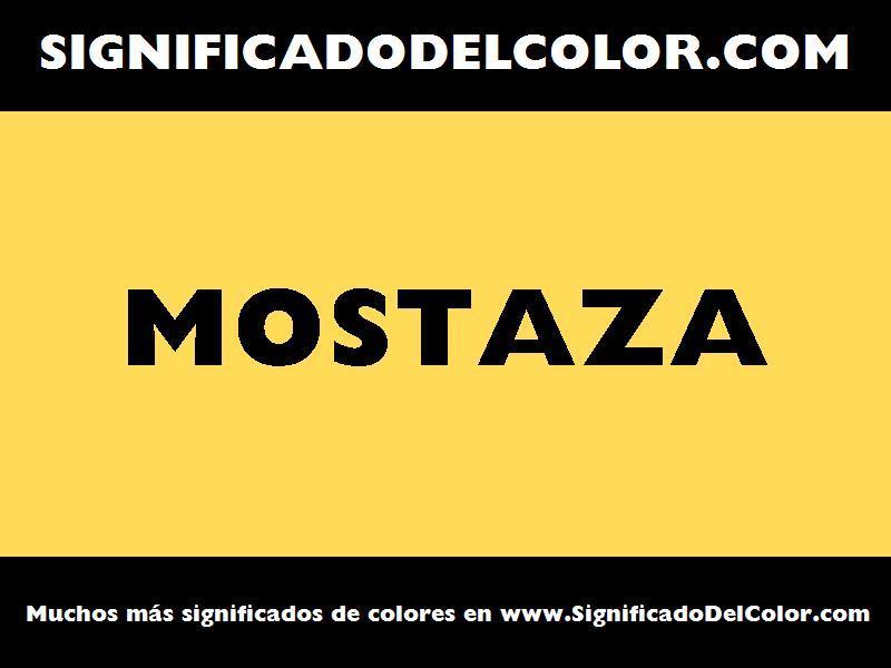 ¿Cual es el color Mostaza?