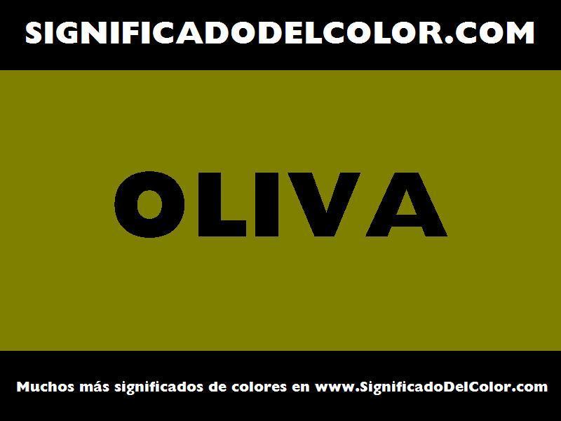¿Cual es el color Oliva?