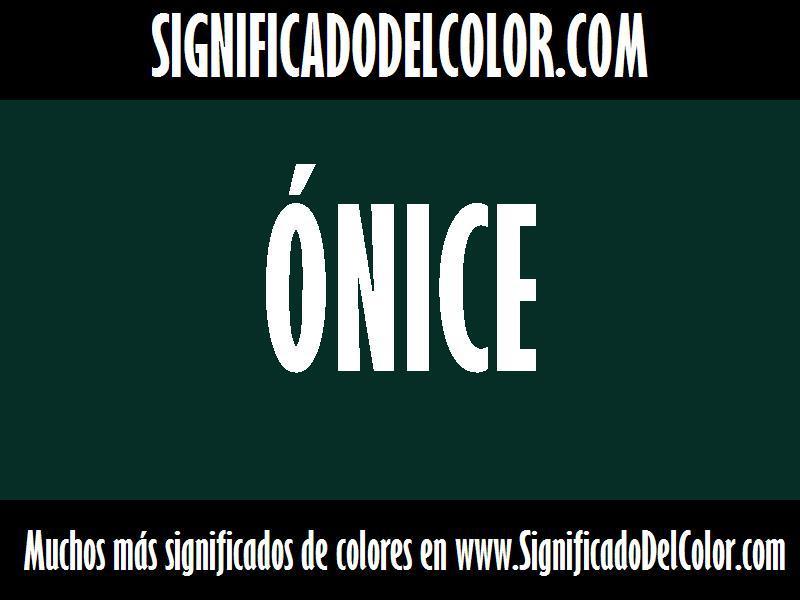 ¿Cual es el color Ónice?