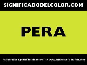 cual es el color pera