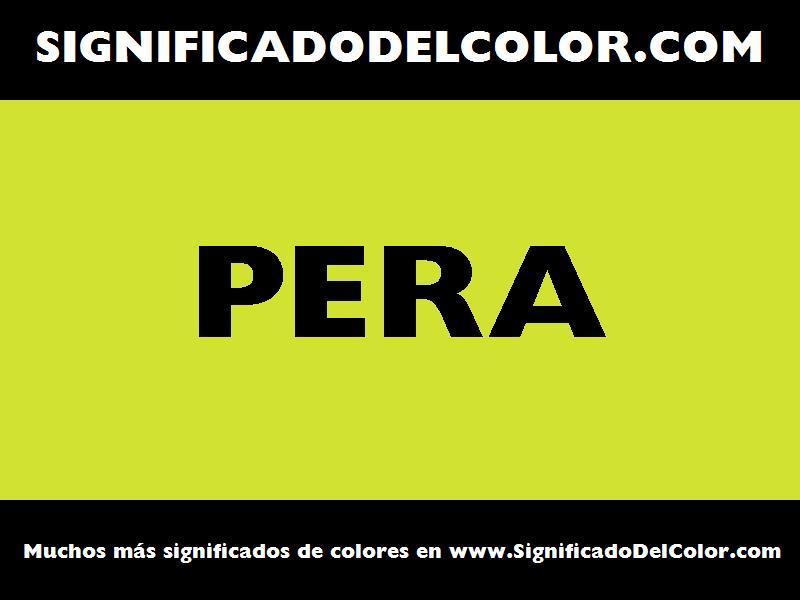 ¿Cual es el color Pera?