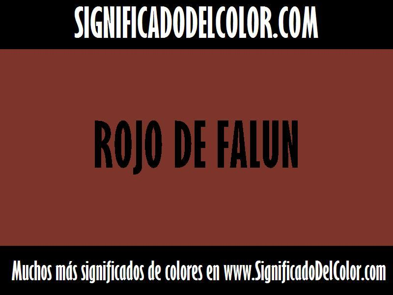 ¿Cual es el color Rojo de Falun?