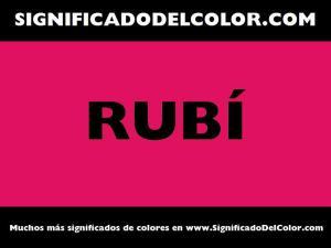 cual es el color rubi