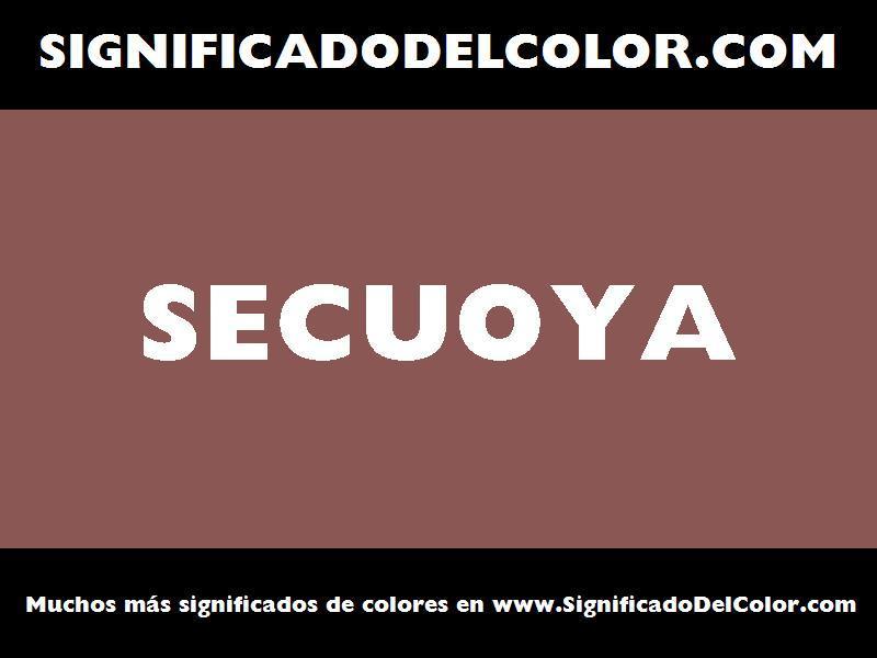 ¿Cual es el color Secuoya?