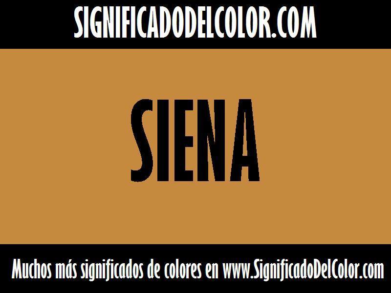 ¿Cual es el color Siena?