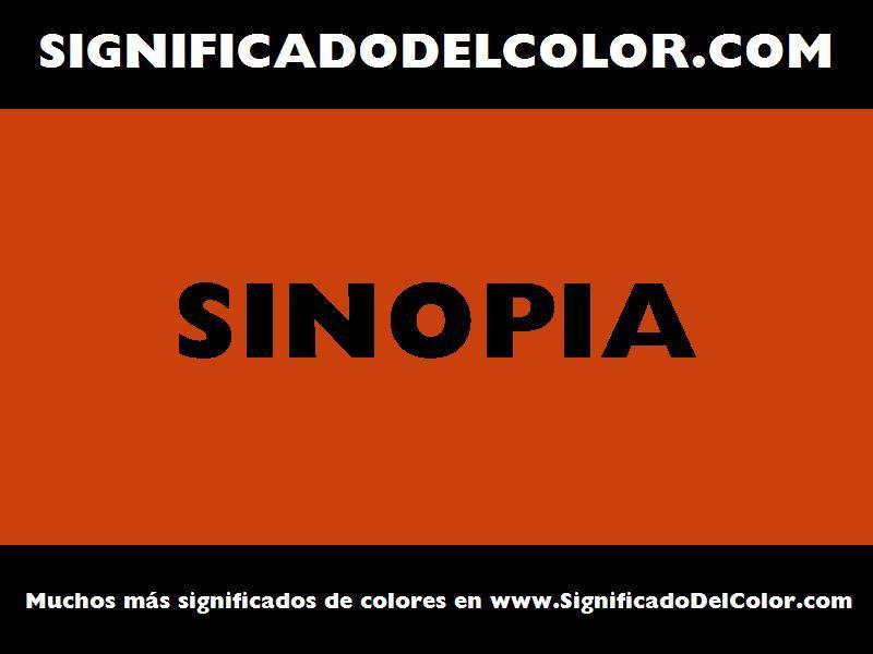 ¿Cual es el color Sinopia?