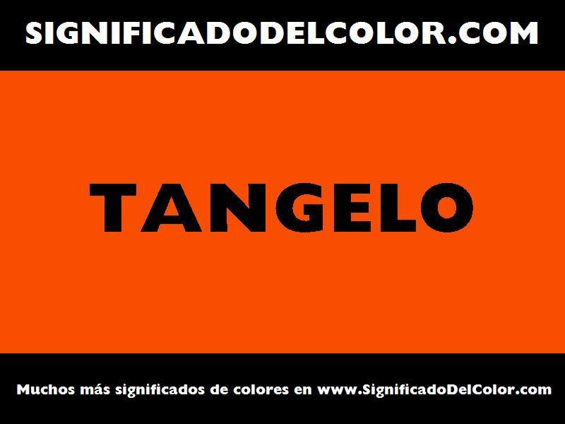 ¿Cual es el color Tangelo?