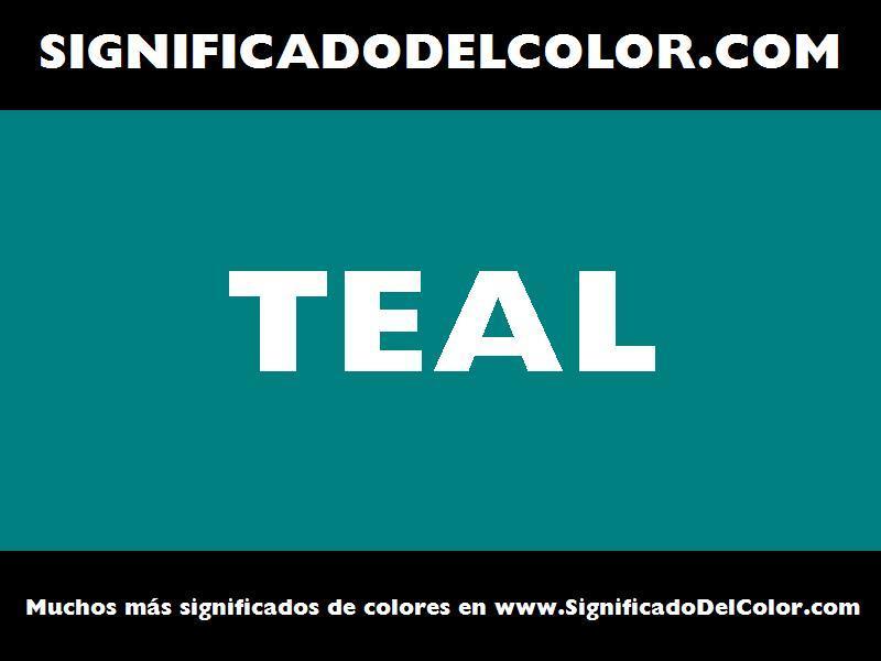 ¿Cual es el color Teal?
