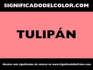 cual es el color tulipan