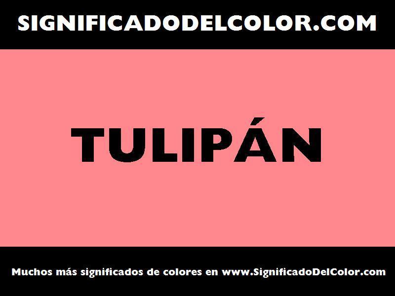 ¿Cual es el color Tulipán?