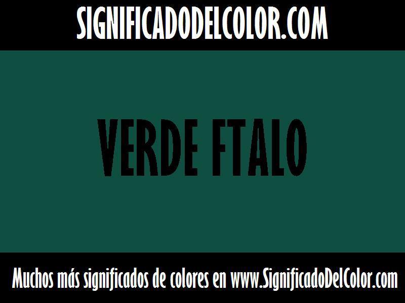 cual es el color Verde ftalo