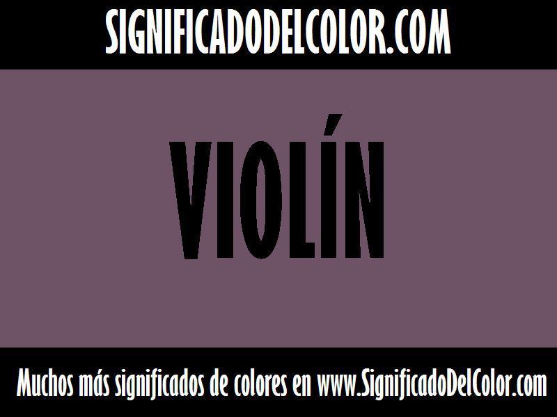 ¿Cual es el color Violín?