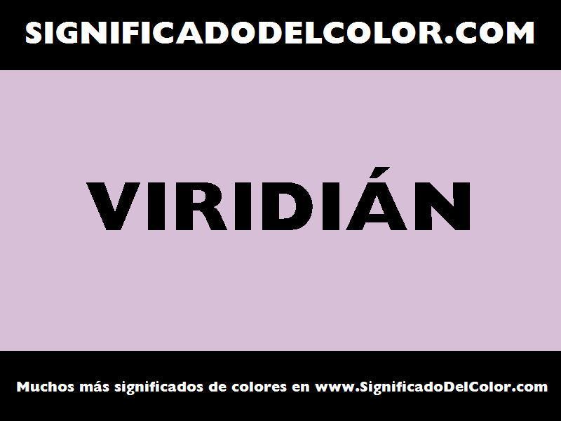 ¿Cual es el color Viridián?