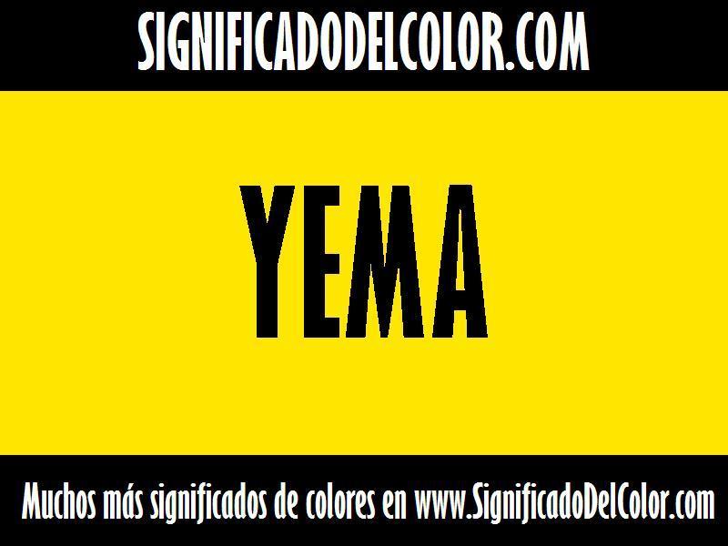 ¿Cual es el color Yema?